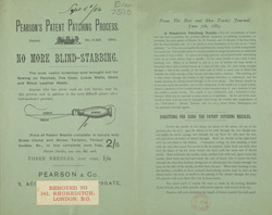 Advert for Pearson & Co, needles